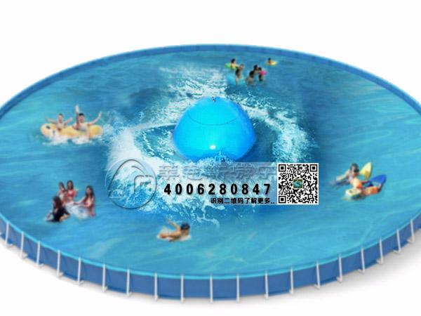 造浪球组合支架游泳池效果